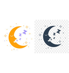 Icon silhouette moon vector