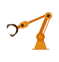 industrial robotic arm for auto production vector image