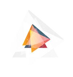 Isolated abstract pink and orange color triangle vector