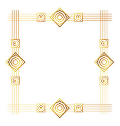 isolated art deco frame design vector image