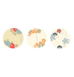 japanese template chinese flower object in vector image