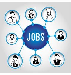 Jobs design over gray background vector