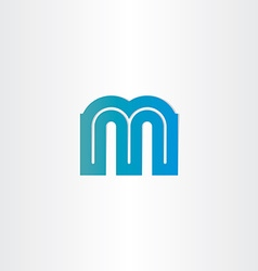 letter m blue icon design vector image