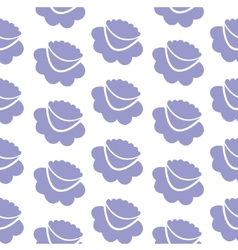 Lilac flowers seamless background vector