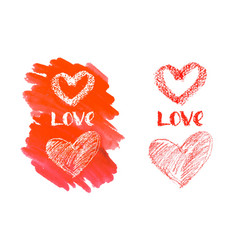 love hand lettering for valentines day vector image