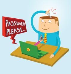 Man creates password vector