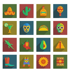 Mexican themed icons vector