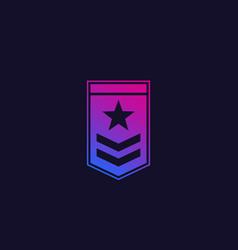 Military rank logo icon vector