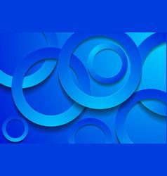 Modern blue backgrounds 3d circle papercut layer vector