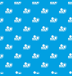 oken arm and safety shield pattern seamless blue vector image