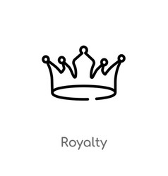 Outline royalty icon isolated black simple line vector