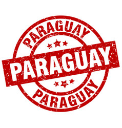 Paraguay red round grunge stamp vector