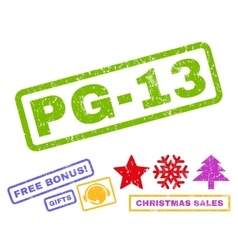 Pg-13 Rubber Stamp vector