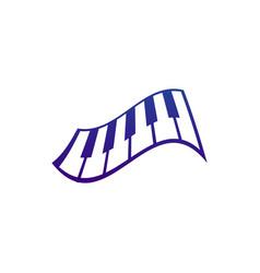 piano music logo and icon design vector image