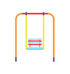 picture of ordinary swing for children to have fun vector image
