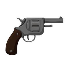 pistol revolver iconcartoon icon vector image