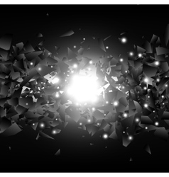 Powerful explosion Black explosion vector