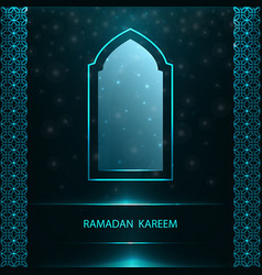 ramadan greeting card with window and pattern vector image
