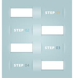 Ribbon Steps Design vector