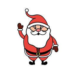 santa claus with christmas suit and beard vector image