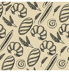 Seamless bakery pattern Retro design vector image