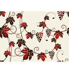 Seamless grape vines background vector image