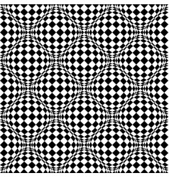 Seamless pattern with bulging distortion on vector