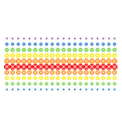 Searchlight shape halftone spectrum array vector