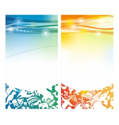 Shiny summer banners vector image vector image