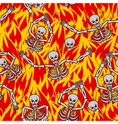Sinners in fire hell seamless pattern dead in vector