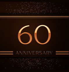 Sixty years anniversary celebration logotype vector