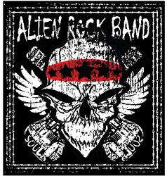 skull rock n roll band music man t shirt de vector image