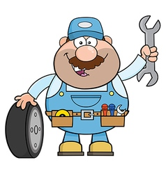 Smiling Mechanic Cartoon vector image vector image