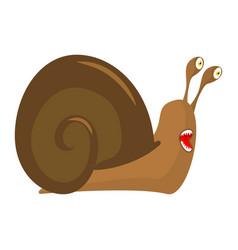 snail cartoon style isolated insect with shell vector image