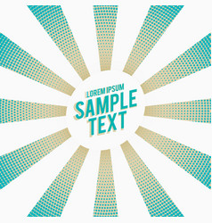 Stylish blue rays with halftone effect background vector