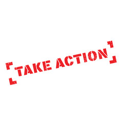Take action rubber stamp vector