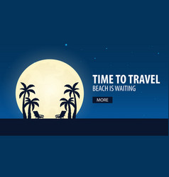 time to travel beach is waiting vector image