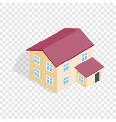 Two storey house isometric icon vector