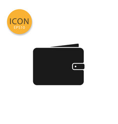 wallet icon isolated flat style vector image