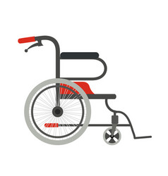 Wheelchair on a white background flat style vector
