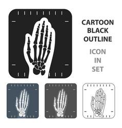 x-ray hand icon cartoon single medicine icon from vector image