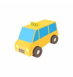 Yellow taxi car icon cartoon style vector