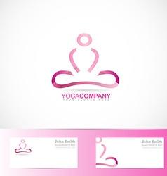 Yoga meditation 3d logo vector