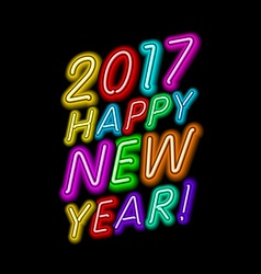 2017 New Year design Sign the year of fire rooster vector image