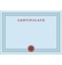 Blue blank certificate vector image