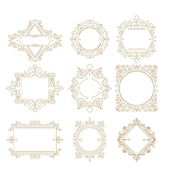 Collection of vintage classic frames Set frames vector image vector image