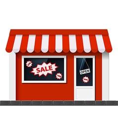 Facade with a showcase store vector image