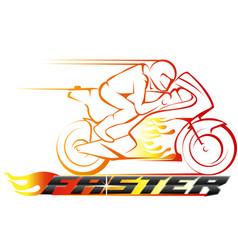 faster racing championship vector image