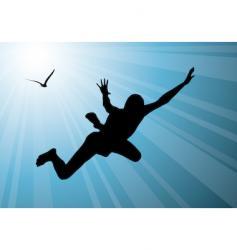 man flying vector image vector image