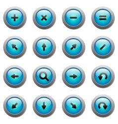 set of black arrows eps8 vector image